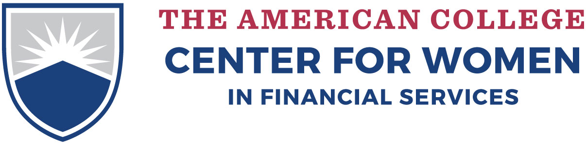 The American College State Farm® Center for Women and Financial Services logo